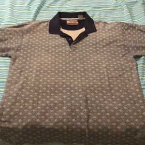 Retro patterned cotton polo in excellent condition